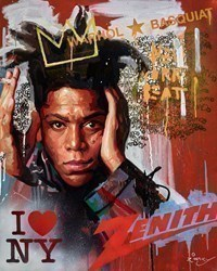 Jean-Michel Basquiat by Zinsky -  sized 32x39 inches. Available from Whitewall Galleries